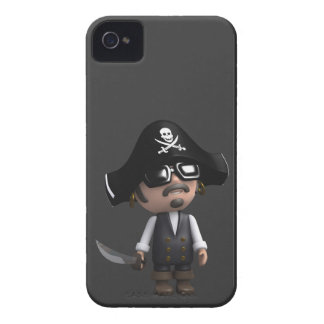 3d Pirate sunglasses iPhone 4 Cover