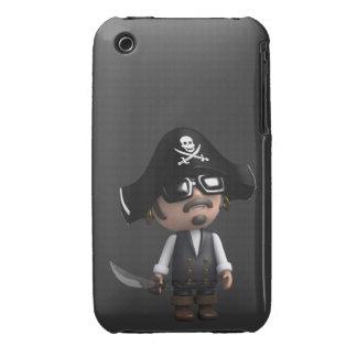 3d Pirate sunglasses iPhone 3 Case