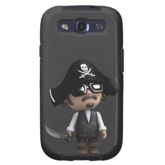 3d Pirate sunglasses Samsung Galaxy S3 Cover