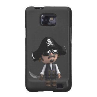 3d Pirate sunglasses Galaxy SII Cases