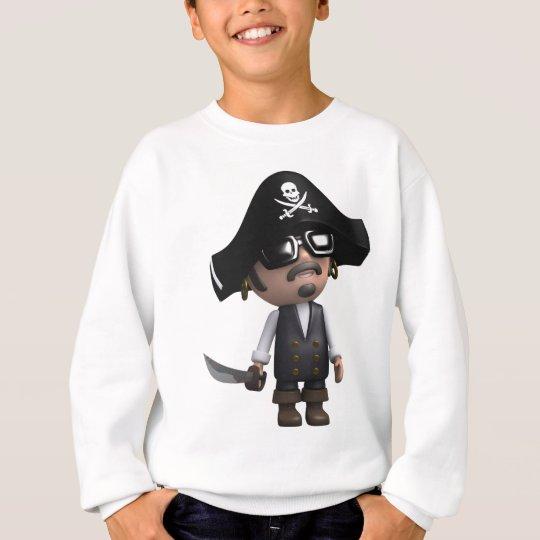 3d-Pirate-sunglasses Sweatshirt