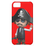 3d Pirate waves Hello! (editable) iPhone 5C Cover