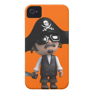 3d Pirate wears Sunglasses (editable) iPhone 4 Cases