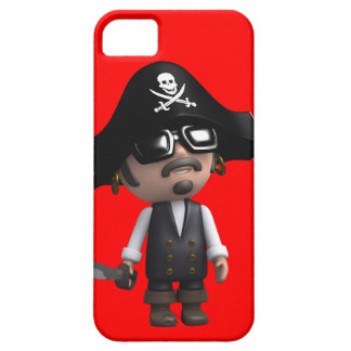 3d Pirate wears Sunglasses (editable) iPhone 5 Covers