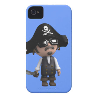 3d Pirate wears Sunglasses (editable) iPhone 4 Cover