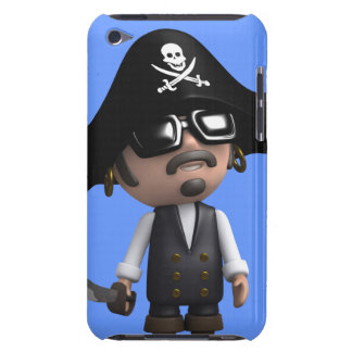 3d Pirate wears Sunglasses (editable) Barely There iPod Cases