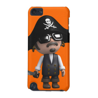 3d Pirate wears Sunglasses (editable) iPod Touch (5th Generation) Cover
