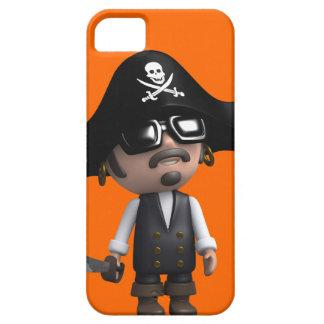 3d Pirate wears Sunglasses (editable) iPhone 5 Case