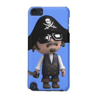 3d Pirate wears Sunglasses (editable) iPod Touch 5G Covers