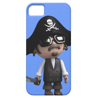 3d Pirate wears Sunglasses (editable) iPhone 5 Cases