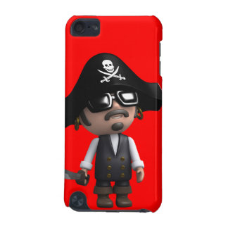 3d Pirate wears Sunglasses (editable) iPod Touch (5th Generation) Case
