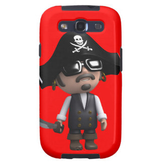 3d Pirate wears Sunglasses (editable) Galaxy S3 Cover