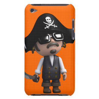3d Pirate wears Sunglasses (editable) iPod Case-Mate Cases