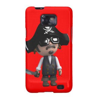 3d Pirate wears Sunglasses (editable) Samsung Galaxy SII Case