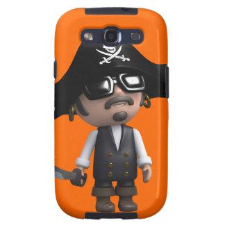 3d Pirate wears Sunglasses (editable) Galaxy SIII Covers