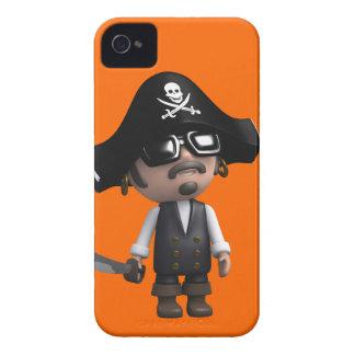 3d Pirate wears Sunglasses (editable) Case-Mate iPhone 4 Case
