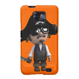 3d Pirate wears Sunglasses (editable) Galaxy SII Cases