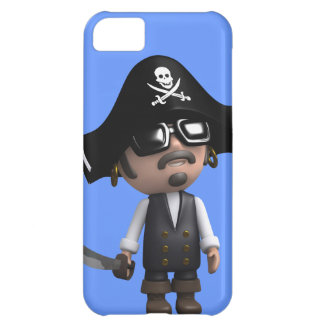 3d Pirate wears Sunglasses (editable) iPhone 5C Case