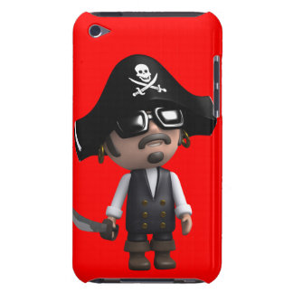 3d Pirate wears Sunglasses (editable) Barely There iPod Case