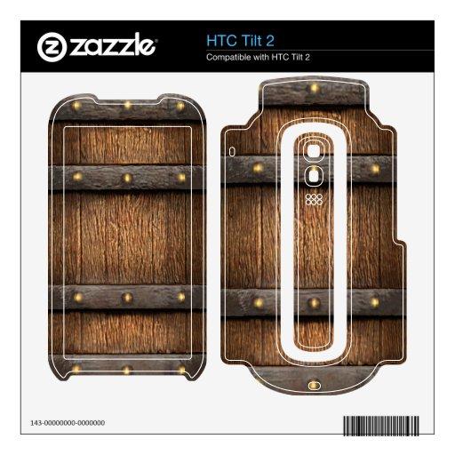 3d piratea la tapa del cofre del tesoro (editable) HTC tilt 2 calcomanías