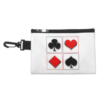 3D playing card suits Accessory Bag