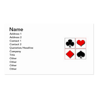 3D playing card suits Business Card