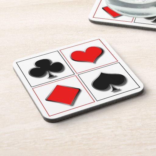 3D playing card suits Coasters