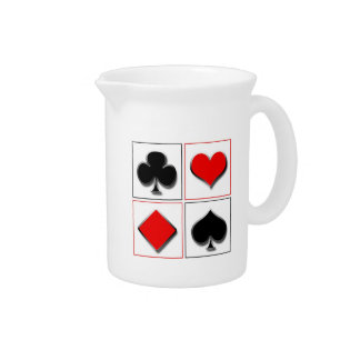 3D playing card suits Drink Pitcher
