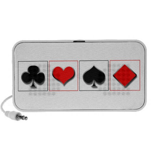 3D playing card suits Mp3 Speakers