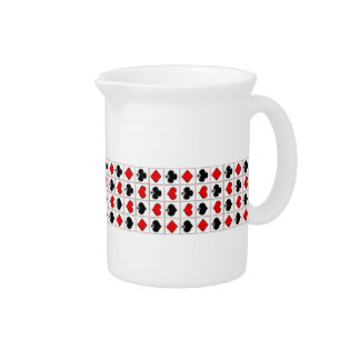 3D Playing card suits pattern Beverage Pitcher