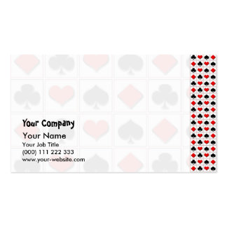 3D Playing card suits pattern Business Card