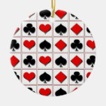 3D Playing card suits pattern Christmas Ornaments