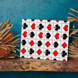 3D Playing card suits pattern Display Plaque