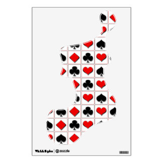 3D Playing card suits pattern Wall Graphic