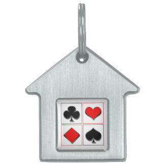 3D playing card suits Pet Tag