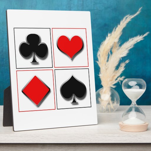 3D playing card suits Photo Plaque