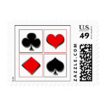 3D playing card suits Postage Stamps