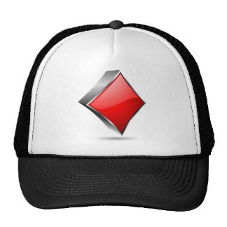 3D poker symbol with shadow Trucker Hat