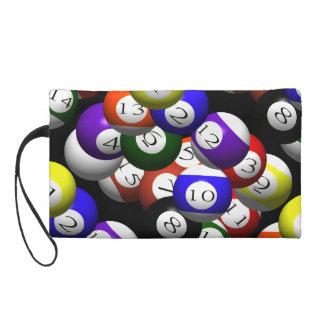 3D POOL BALLS WRISTLET PURSE