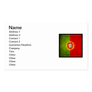 3D Portugal flag Double-Sided Standard Business Cards (Pack Of 100)