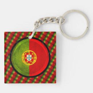 3D Portugal flag Keychain