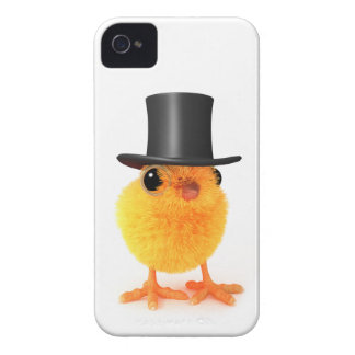 3d Posh Chick in Top Hat iPhone 4 Cover