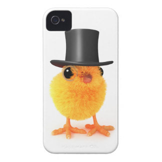 3d Posh Chick in Top Hat iPhone 4 Covers