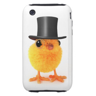 3d Posh Chick in Top Hat Tough iPhone 3 Covers