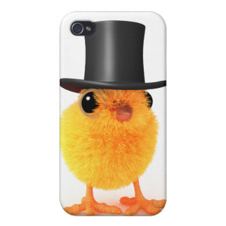 3d Posh Chick in Top Hat Covers For iPhone 4