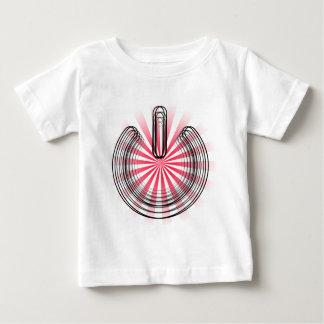 3D Power Symbol over Red Burst Tshirt