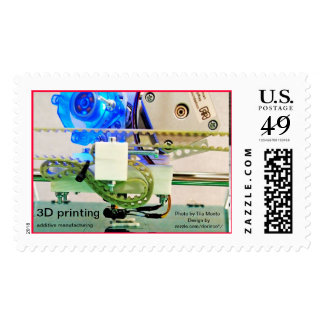 3D printing; additive manufacturing Postage Stamp