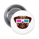 3D Pug Button