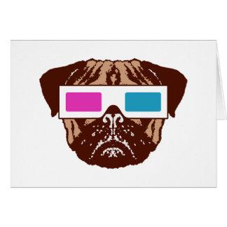 3D Pug Card
