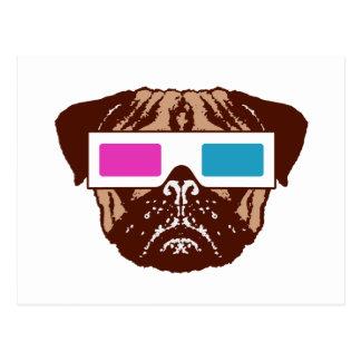 3D Pug Postcard
